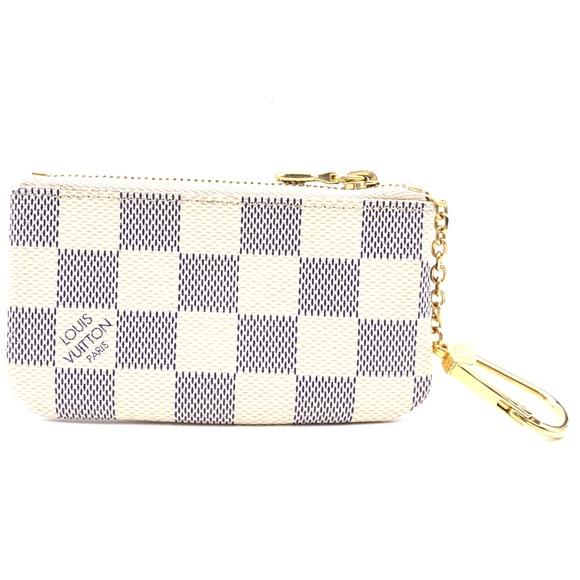 Louis Vuitton Handbags - Damier Azur Key Cles Pocket Case Coin Purse Wallet
